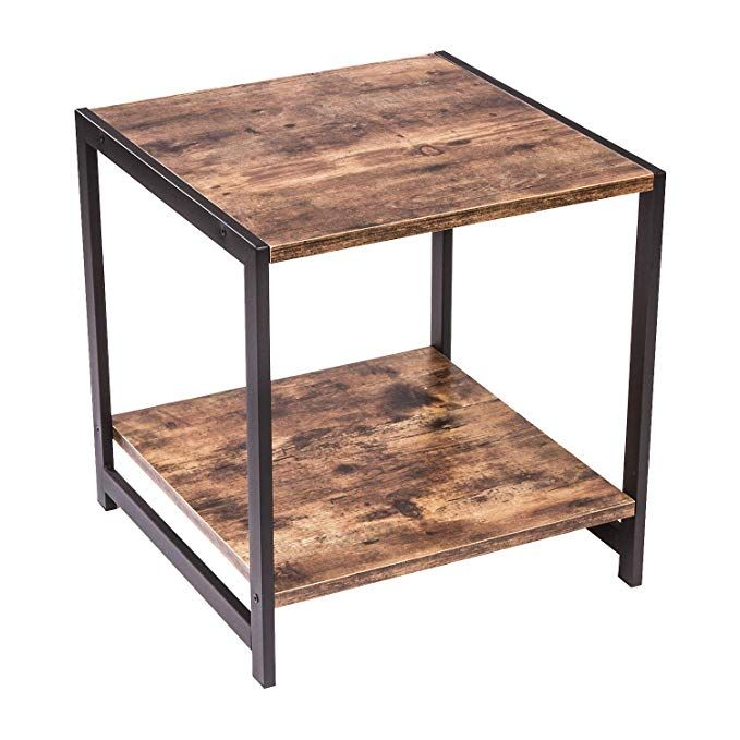 Ironck Industrial End Tables With Storage Shelf Industrial Home