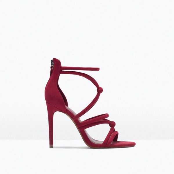 Zara Knotted High-Heel Sandals (59 CHF) ❤ liked on Polyvore