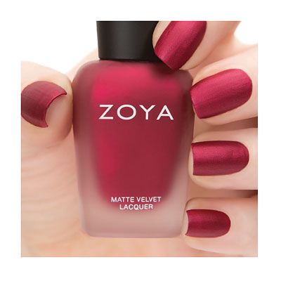 Zoya MatteVelvet in Posh. The prettiest cool red matte in the world. Reissued in…