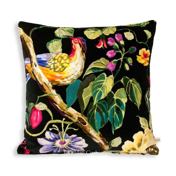 Prestigious Designer Fabric Mauritius Paradise Pink Velvet Cushion Pillow Cover
