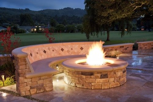 A firepit on your patio?Fire Pits, Backyards Fire Pit, Ideas, Outdoor Living, Outdoor Fire Pit, Outdoor Fireplaces, Fire Pit Design, Patios, Firepit