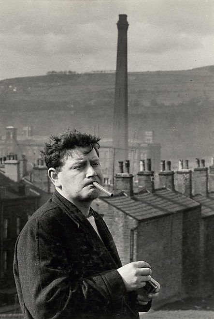 """by David Moore  (Australia 06 Apr 1927–23 Jan 2003)    Title  England, John Braine, one of the """"Angry young men""""  Year  1958  Gelatin silver photograph"""