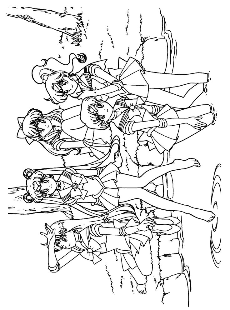 Sailor Moon Coloring Pages Sketch Page