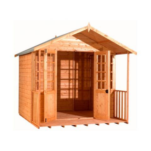 Strongman 6ft x 8ft (1.75m x 2.35m) Loglap Summerhouse – Next Day Delivery Strongman 6ft x 8ft (1.75m x 2.35m) Loglap Summerhouse