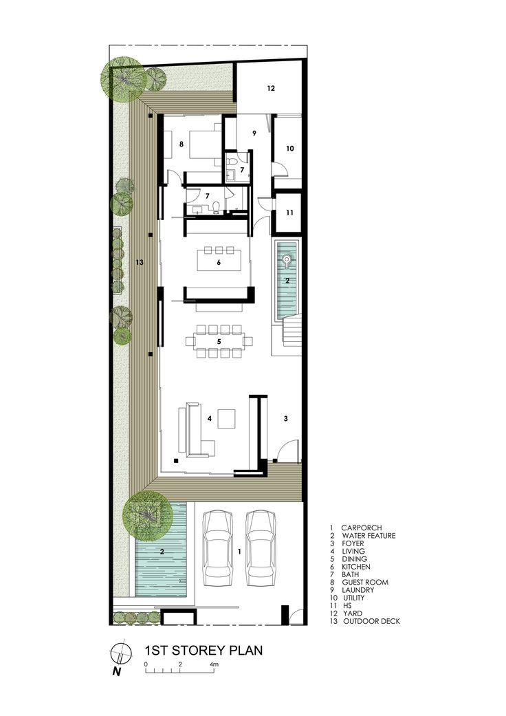 Image 18 of 20 from gallery of Far Sight House / Wallflower Architecture + Design. First Floor Plan