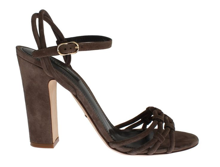 Brown Suede Ankle Strap Sandals Shoes