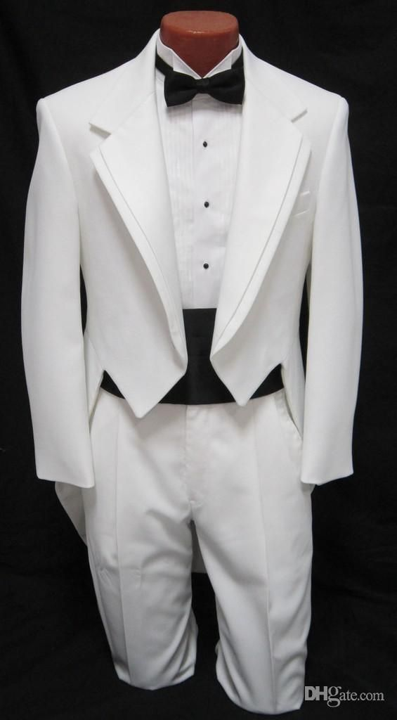 You will become such a outstanding man with MEN'S BOYS White Tuxedo Tailcoat Dance Costume Tux Tails Coat Bridegroom wedding suits(Jacket+Pants+bow) offered by qingshaoshop. Besides, DHgate.com also provide formal suits prom suits for guys and mens tailcoat.