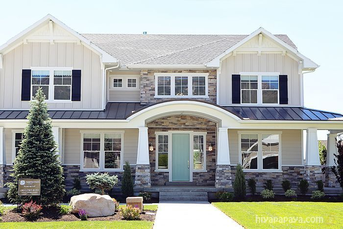 The paint colors are: Front Door and Front Room – Green Trance SW 6462 Hallways and Great Room – Agreeable Gray SW 7029 Master Bedroom – Silver strand SW Office – Foggy Day SW 6235 Guest Bath – Misty SW 632 The exterior is James Hardie Cobblestone and Dut
