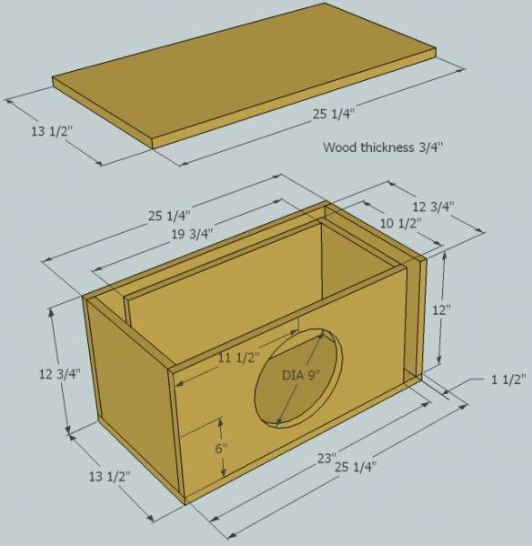 8 12 Inch Sub Box Plans Woodworking Plans Ideas In 2020 Subwoofer Box Design Diy Subwoofer Box Subwoofer Box