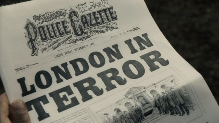 graphic props for film - SHERLOCK HOLMES
