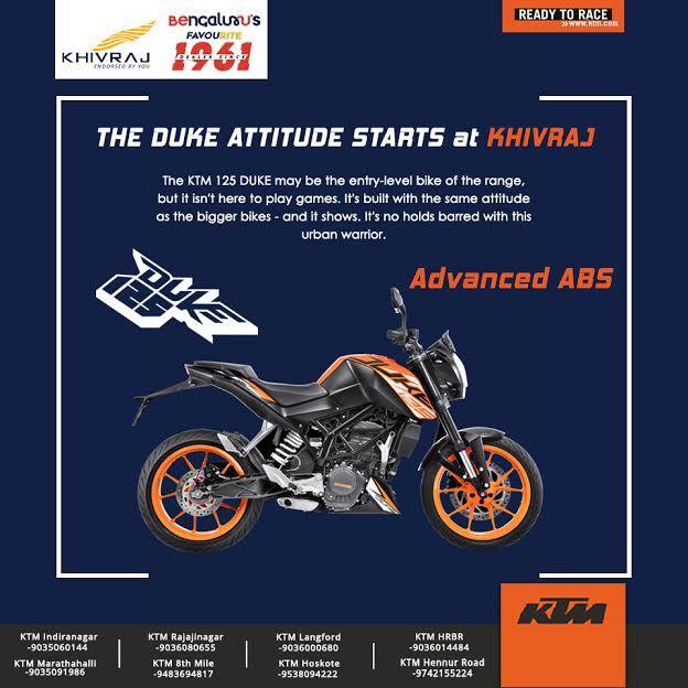 The Duke Attitude Start Here Ktm125 Visit Khivrajktm Today And Grab The Best Finance Offer Ktm Duke Attitude