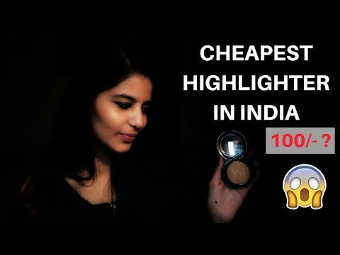 Cheapest Highlighter In India.Blue heaven diamond blush on review & demo.