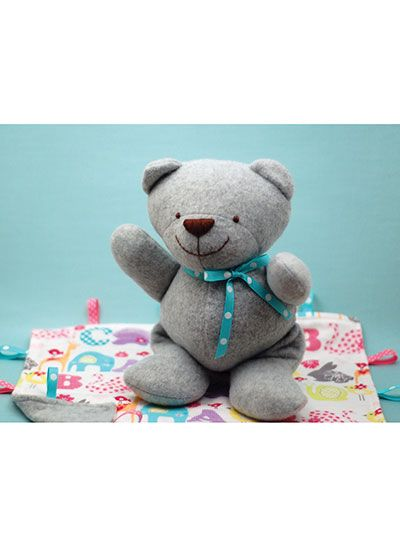 Learn how to sew a babys first teddy bear sewing pattern