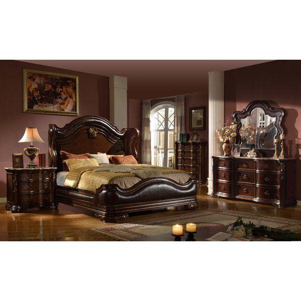 Erwan Standard Solid Wood 4 Piece Bedroom Set Bedroom Set Bedroom Furniture Sets Luxurious Bedrooms