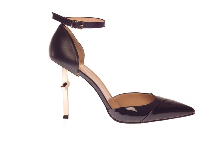 Lamperti Milano patent leather and PVC Salvation heels