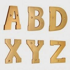 Decorate your home with letters numerals and enhance the look of your home. The Roman letters made in brass material will elevate the beauty of your abode like no other material. Creating a good impression on your visitors can become the best way to decorate your home. Letters numerals act as one of the best indicator of your house. One can get to know where to go when they read the brass letter signs on your doorway.