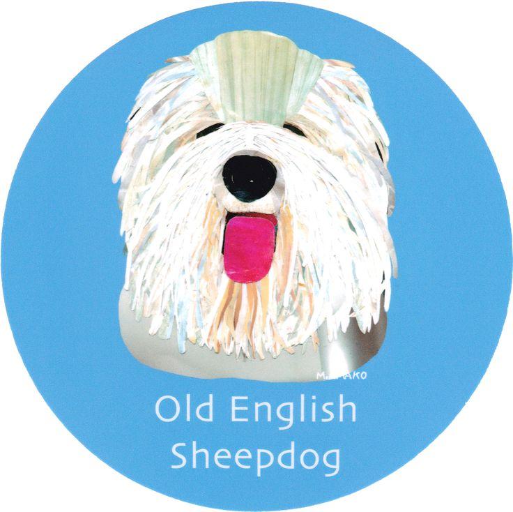 マイ @Behance プロジェクトを見る : 「015   Old English Sheepdog」 https://www.behance.net/gallery/42194515/015-Old-English-Sheepdog