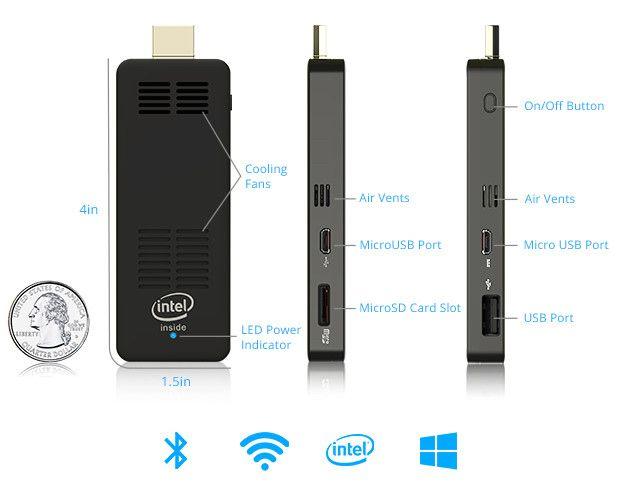 ComputerStick ただ差し込むだけでOK それほど簡単なのです。コンピュータスティックは、モニターやテレビのHDMIポートに差し込むだけのマイクロUSBによる給電で作動します。 手順1 - HDMIポートに差し込み 手順2 - パワーケーブルへ接続 * 手順 3 - 新たなテレビパソコンの使用開始