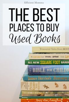 Saving for later! This is an awesome list of places to buy used books online, which ones have free shipping and which ones have the lowest prices | The Best Places to Buy Used Books Online.