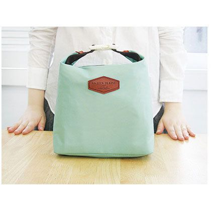 iconic insulated lunch bag tote pouch with handle - mint by iconic. bring your lunch to picnic, work or school in style with this insulated lunch bag.