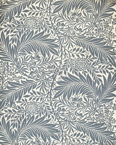 Larkspur wallpaper, by William Morris. England, late 19th century