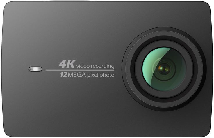 YI Technology 4K Action Camera in Night Black, and Pearl White