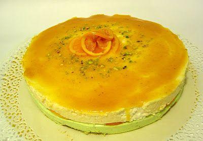 La cucina piccoLINA: Bavarese al pistacchio con mousse all'arancia