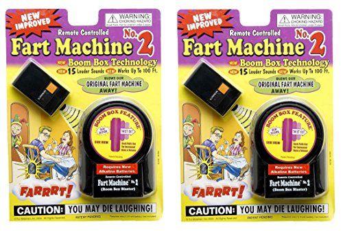 T.J. Wisemen Remote Control Fart Machine No. 2 Funny Gag Gift Joke Prank - Pack of 2