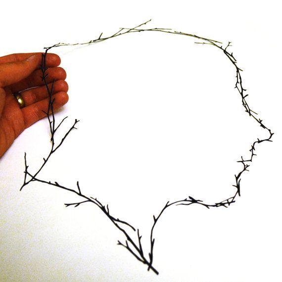 Branch Provile framed original handcut paper art by papercutsbyjoe