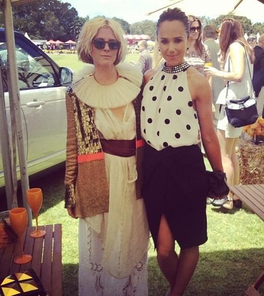 sarah-jane clarke & pip edwards at the polo with range rover
