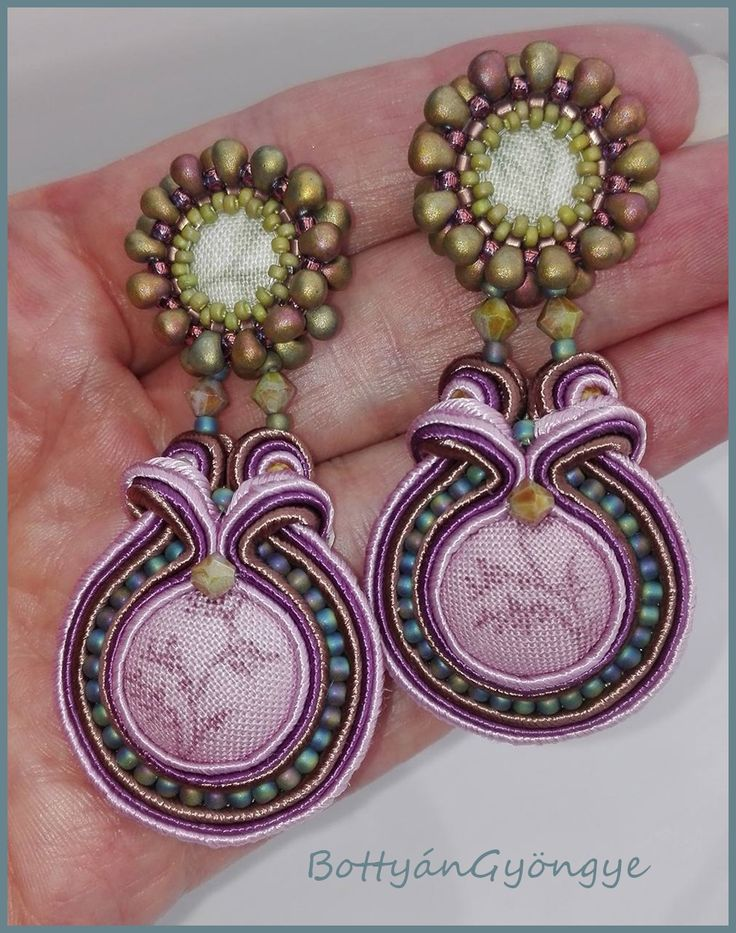 Őszi virág - sujtás fülbevaló  / Autumn flowers - earrings soutache