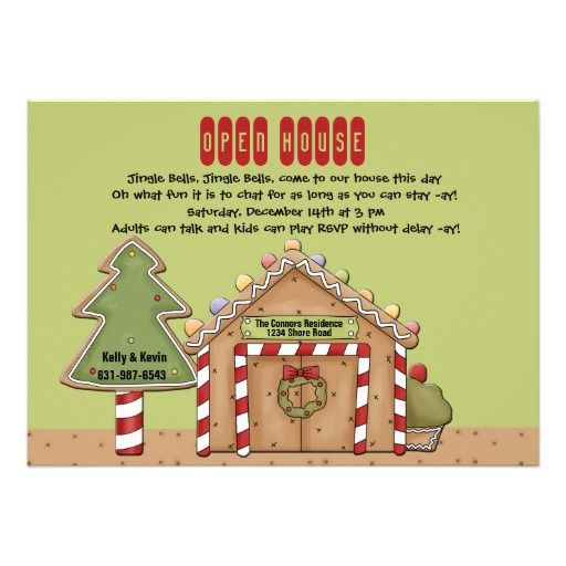 21 best open house invitation wording images on pinterest house gingerbread open house invitation stopboris Image collections