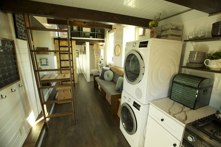 A beautiful 325 sq ft tiny house with three bedrooms, designed for a family of five!