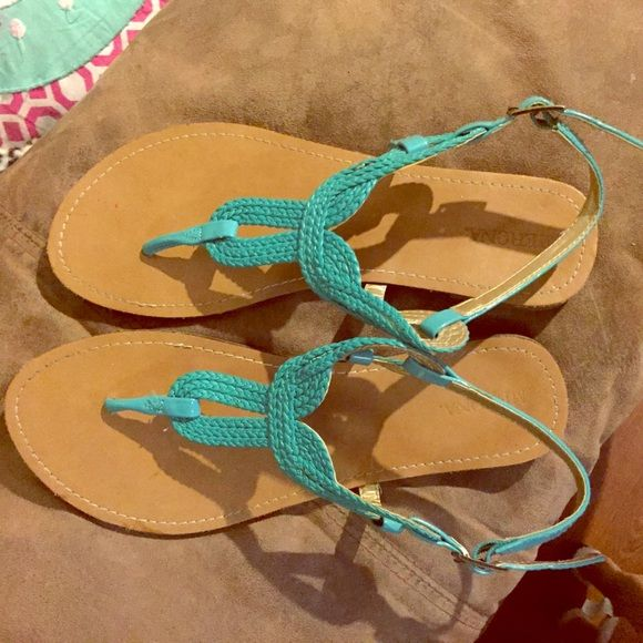 Turquoise sandals! Turquoise sandals from target size 9 Shoes Sandals
