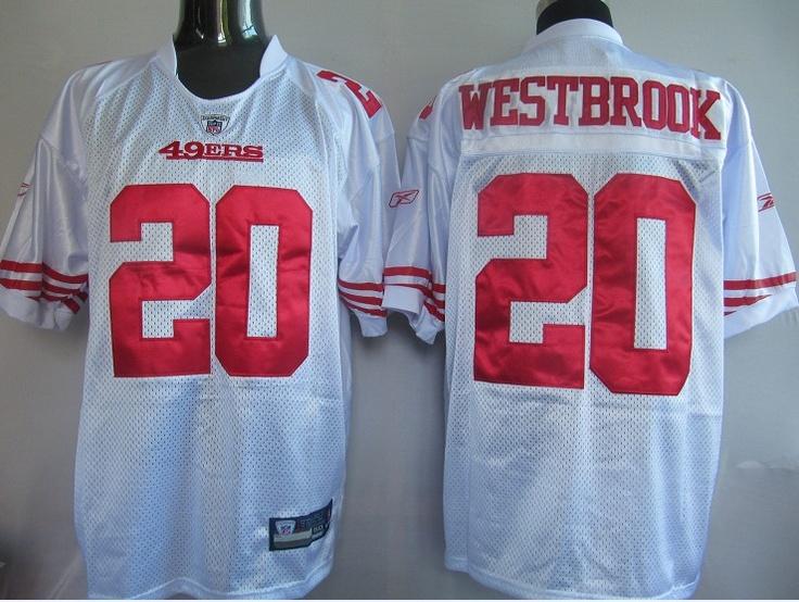 25.00 reebok nfl jersey san francisco 49ers brian westbrook 20 white