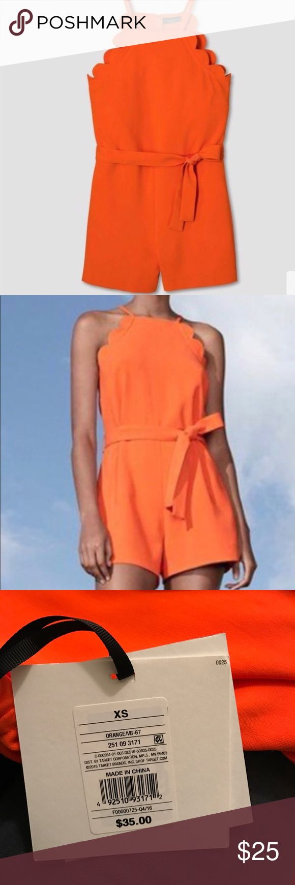 Victoria Beckham orange jumpsuit size XS New with tags Victoria Beckham for Target Dresses