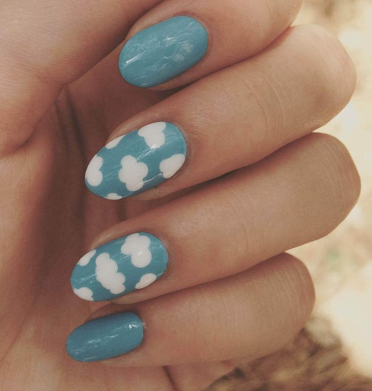 Best 20+ Light Blue Nails Ideas On Pinterest
