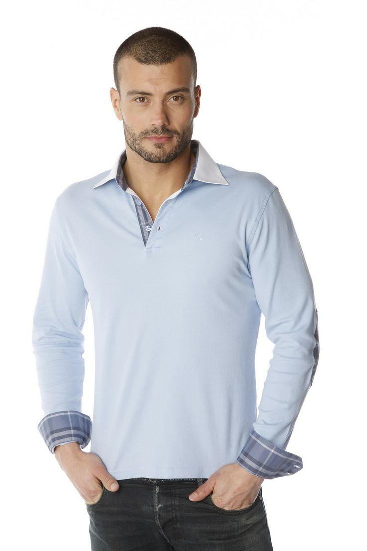 Polos à manches courtes Gant Rugger bleus Casual homme ELyu9sEk78