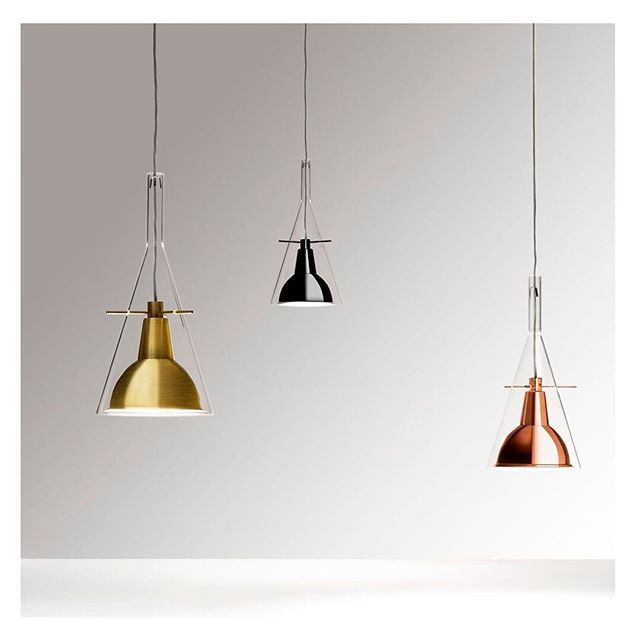 Equilibrium And Lightness For This Suspension Pendant That Emits A Direct Focused Light New Copper Brass And In 2020 Suspension Lamp Ceiling Lights Pendant Light