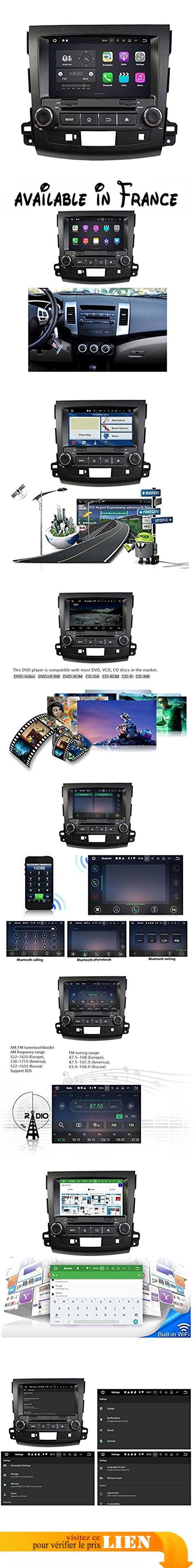 Doublé Din 8 pouces Android 7.1 lecteur DVD de voiture pour Mitsubishi Outlander 2006 2007 2008 2009 2010 2011 2012 2013,DAB+ radio 1024x600 écran tactile capacitif avec Quad Core Cortex A9 1.6G CPU 16G flash et 2G de RAM DDR3 GPS Navi Radio Lecteur 3G/WIFI Aux Input OBD2 USB/SD DVR. Android 7.1.2 OS 2 din autoradio pour Mitsubishi Outlander(2006-2013),Rockchip PX3 Cortex A9 quad core 1.6G CPU,Sumsang DDR3 2G RAM, 16G NAND Flash,capacitif tactile multi-point. Logo de départ