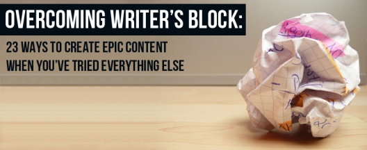 We've all been there. Stuck at a blank screen or notebook of doom, lost in agony, without direction or purpose. Writer's block happens from time to time. Here's our go to list of things to try when your stuck.