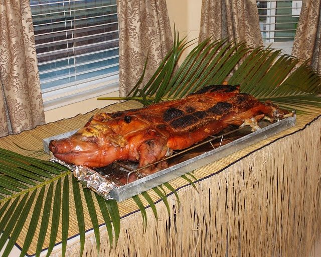 how to cook a luau pig