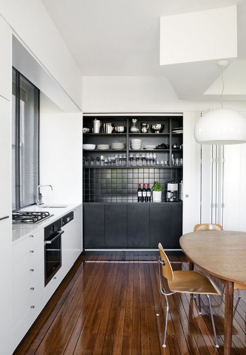Modern kitchen/diner with the Vitra DCM Plywood Chair http://www.nest.co.uk/product/vitra-dcm-eames-plywood-chair