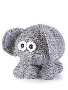 Geweldig lieve olifant, patroon te vinden op http://www.echtstudio.nl/images/public/popup/olivia-olifant(0).jpeg