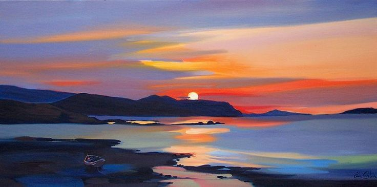 "Pam Carter - ""Inland Sound Sunset"""