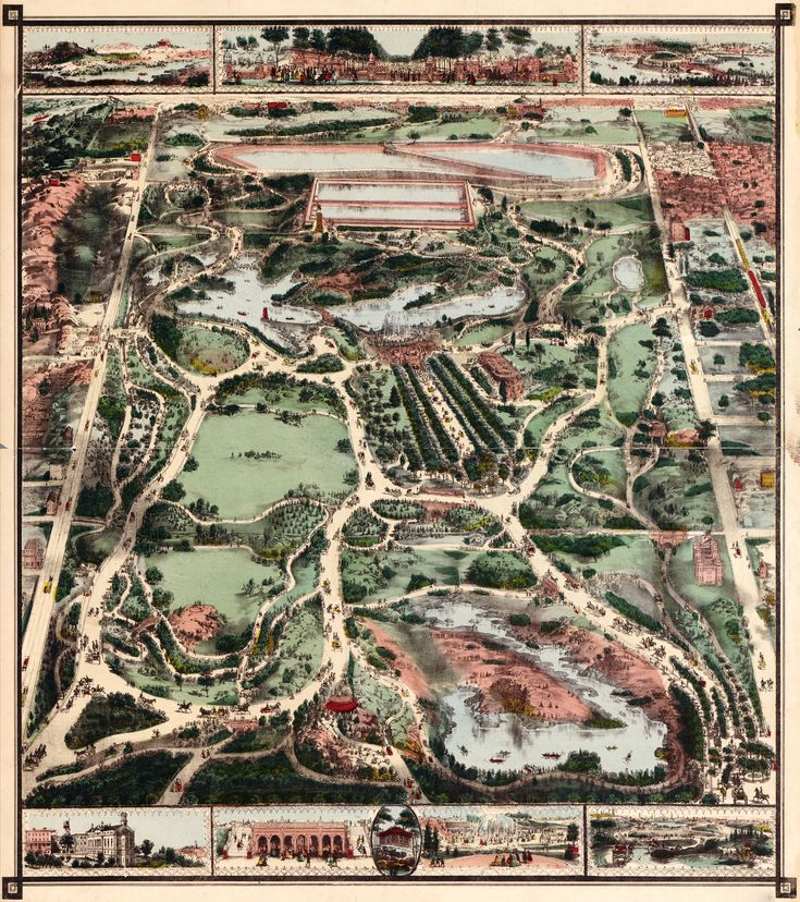 Vintage Infographic Map of New York Cityu0027s