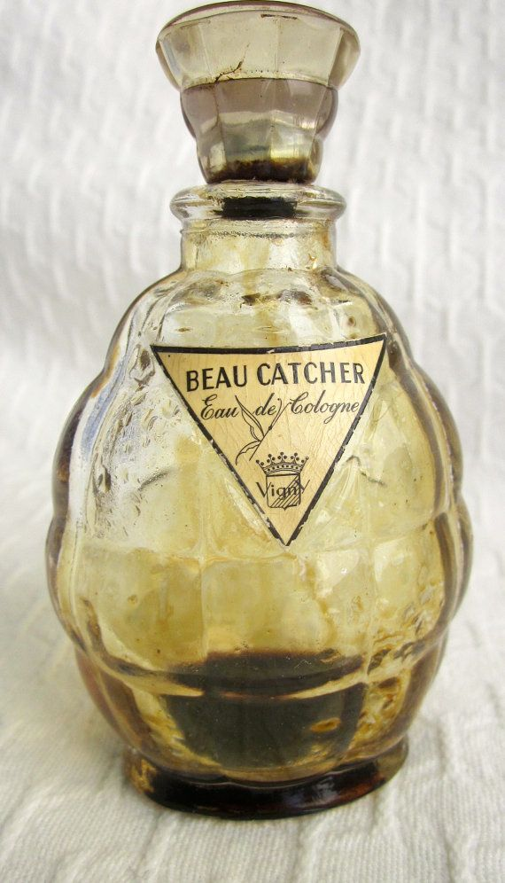 Vintage VIGNY  BEAU CATCHER  French Cologne Perfume Bottle 1940s