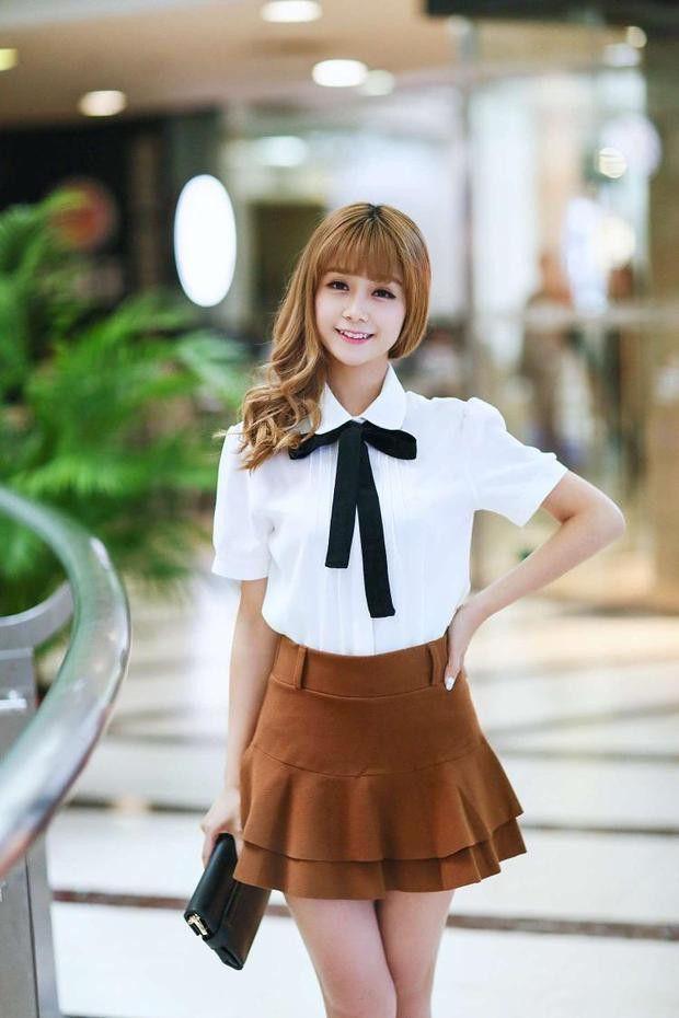 yellow dress peter pan collar uniform