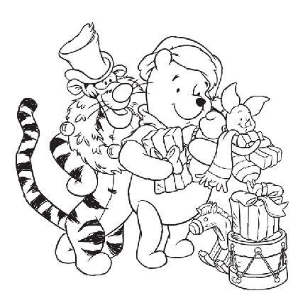 252 best images about disney coloriages jeux et images on pinterest disney tinkerbell and - Dessin de noel disney ...