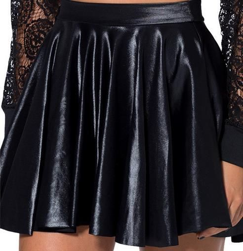 Kas Sexy Zwarte PU Lederen Rok voor vrouwen Herfst Winter hoge taille plooirok Vrouw Vintage Plus Size Minirok